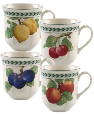 French Garden Modern Fruit Set/4 Assorted Jumbo Mug
