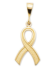 14k Gold Charm, Awareness Charm