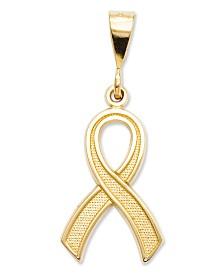14k Gold Charm, Awareness Charm