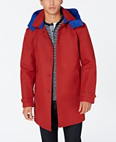 144e9d4c Tommy Hilfiger Men's Wolf Modern-Fit Raincoat with Removable Hood