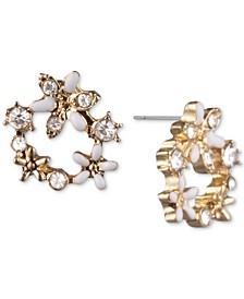 Crystal Flower Open Stud Extra Small Earrings
