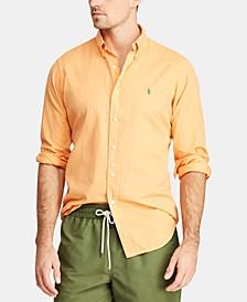 Men's Big & Tall Classic Fit Twill  Shirt