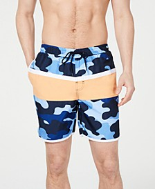 "Men's Colorblocked Camo 7"" Swim Trunks, Created for Macy's"
