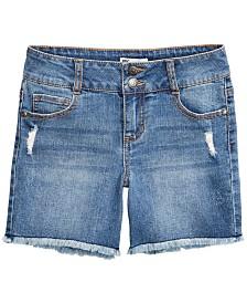 Epic Threads Big Girls Frayed Hem Denim Shorts, Created for Macy's