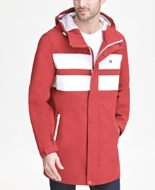 Tommy Hilfiger Men's Bonded 3/4th-Length Hooded Rain Jacket, Created for Macy's