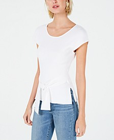 Tie-Waist Cap-Sleeve Sweater, Created for Macy's