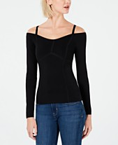 Bar III Seam-Detail Off-The-Shoulder Sweater 7744eb76b