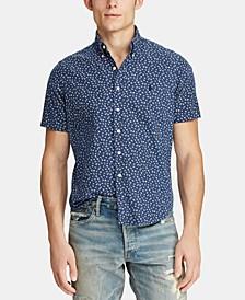 Men's Big & Tall Classic Fit Printed Cotton Shirt