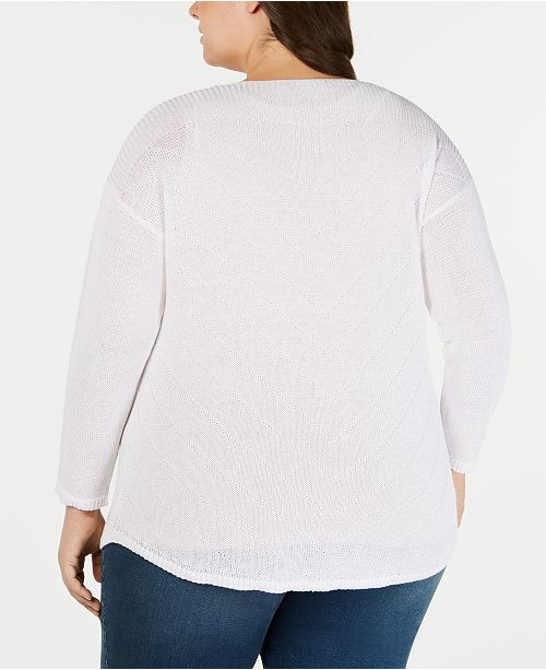 col unique Concepts Top pourAvis Bright a Inc taille internationauxcree Pulls White rond Tailles Pull iulwOZTPXk