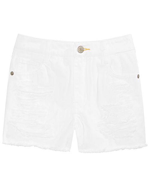 Epic Threads Big Girls Frayed Hem Cotton Denim Shorts, Created for Macy's