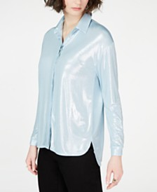 I.N.C. Button-Front Shine Shirt, Created for Macy's