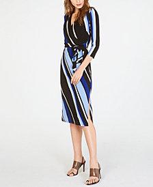 I.N.C. Printed Faux-Wrap Dress, Created for Macy's
