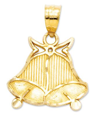 Gold Wedding Bells: Macy's 14k Gold Charm, Wedding Bells Charm