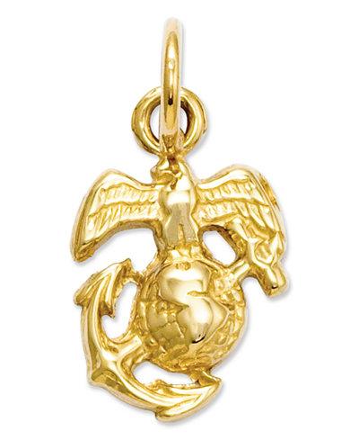 14k Gold Charm U S Marine Corps Charm Jewelry
