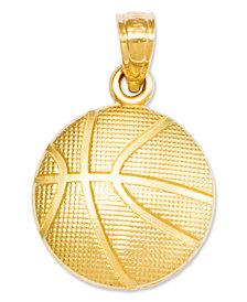 14k Gold Charm, Basketball Charm