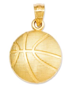 14k Gold Charm, Basketball Charm