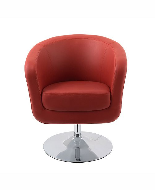 Swell Corliving Modern Bonded Leather Swivel Tub Chair Ibusinesslaw Wood Chair Design Ideas Ibusinesslaworg