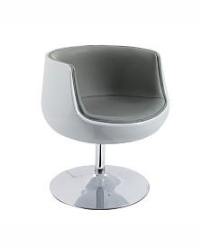 Corliving Modern Bonded Leather Swivel Barrel Chair