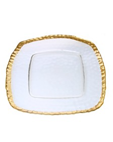 Classic Touch Trophy Square Charger Plates-Set of 4