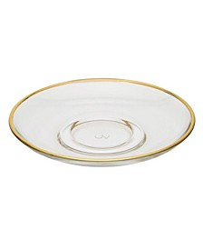 Set of  6 Glass Plates with Rim