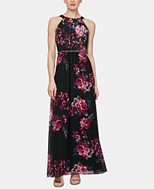 Floral-Printed Maxi Gown