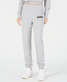 Juicy Couture Ruched Logo-Graphic Jogger Pants