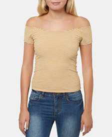 O'Neill Juniors' Delainie Off-The-Shoulder Top