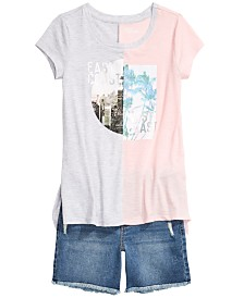 Epic Threads Colorblocked T-Shirt & Denim Shorts, Created for Macy's