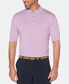 PGA TOUR Men's Feeder Striped Polo