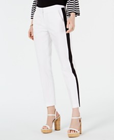 MICHAEL Michael Kors Petite Striped Ankle Pants