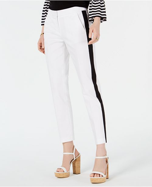 Michael Kors Petite Striped Ankle Pants