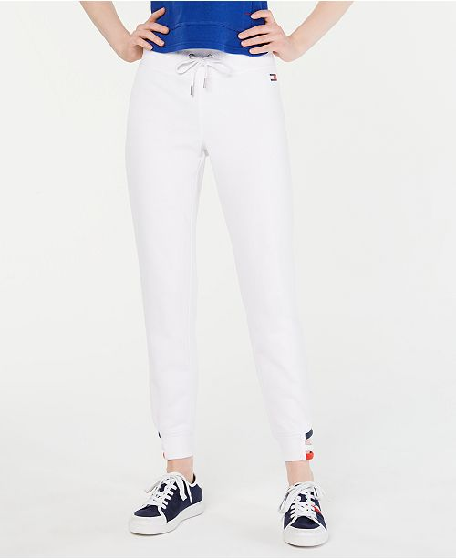 Tommy Hilfiger Strappy-Hem Jogger Pants, Created for Macy's