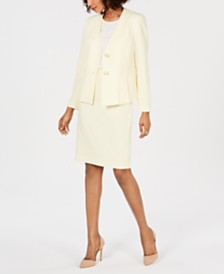 Le Suit Pleated-Waist Skirt Suit