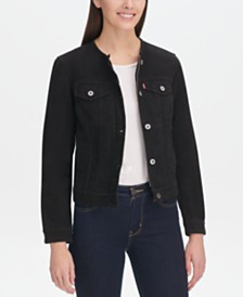 Levi's® Cotton Collarless Denim Jacket