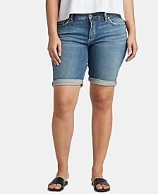 Silver Jeans Co. Plus Size Elyse Bermuda Jean Shorts