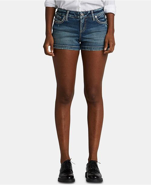 Silver Jeans Co. Elyse Denim Relaxed Curvy-Fit Shorts