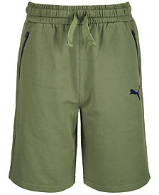 Puma Big Boys Fleece Zip-Pocket Shorts