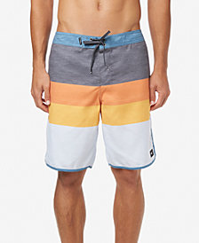 "O'Neill Men's Four Square Ultrasuede Quick-Dry Colorblocked Stripe 20"" Board Shorts"