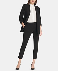 Open-Front Jacket & Slim Ankle Pants