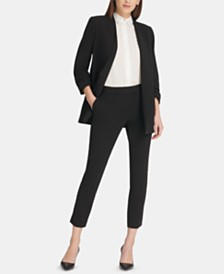 DKNY Open-Front Jacket & Slim Ankle Pants