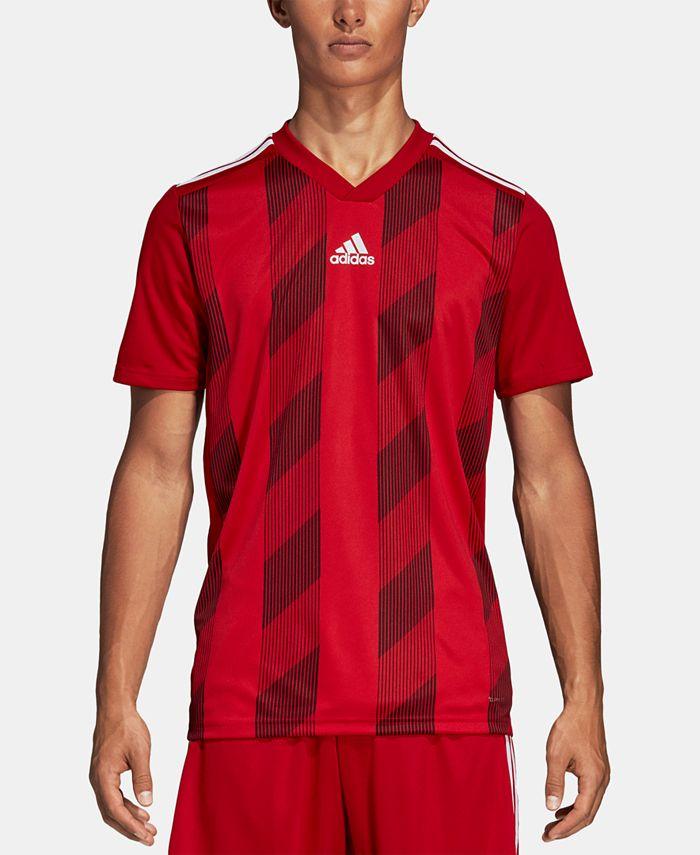 adidas Men's Striped Soccer Jersey & Reviews - Activewear - Men ...