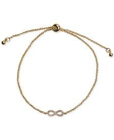 Kitsch Gold-Tone Micro-Pavé Infinity Slider Bracelet