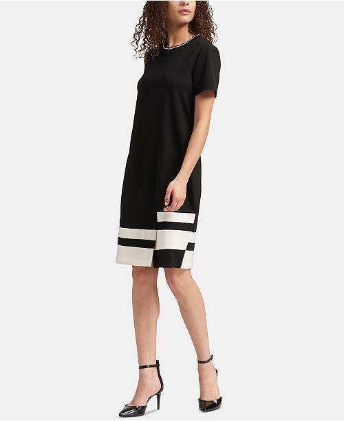 8d1746db95 DKNY Colorblocked T-Shirt Dress   Reviews - Dresses - Women - Macy s