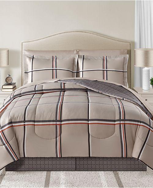 Sunham Cameron Reversible 8-Pc. Comforter Sets