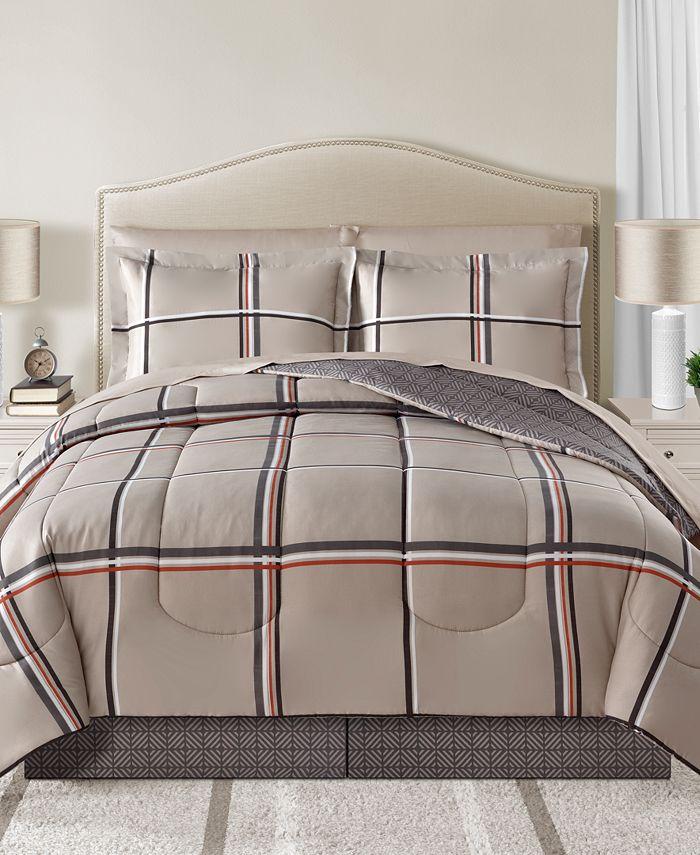 Sunham - Cameron Reversible 6-Pc. Twin XL Comforter Set