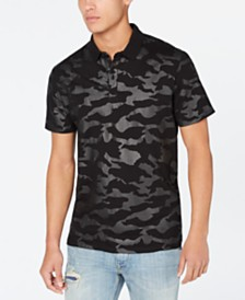 Guess Men's Camo Polo