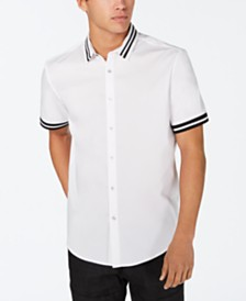 I.N.C. Men's Striped-Trim Shirt, Created for Macy's