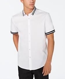 I.N.C. Men's Striped-Trim Shirt, Created for Macy's