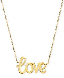 "Love 18"" Pendant Necklace in 10k Gold"