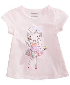 First Impressions Toddler Girls Flower Girl Graphic T-Shirt, Created for Macy's